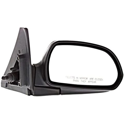 VAM Fits 02-04 Spectra 1.8L Right Pass Mirror Manual Remote Non-Painted Black