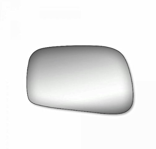 Fits 04-05 Toy Rav4 Right Passenger Convex Mirror Glass Lens  w/Silicone