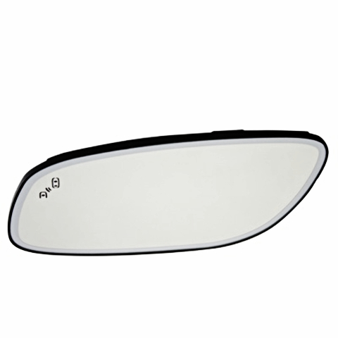 Fits 10-18 Taurus Left Driver Mirror Glass Heated w/Blind Spot Detect & Holder OE