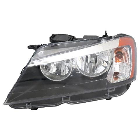 Fits 11-14 BMW X3 Right Passenger Halogen Bulb Type Headlight Assembly