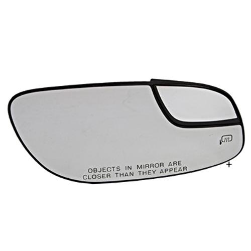Fits 12-18 Taurus Right Pass Mirror Glass w/ Small Spot, Rear Holder Heated OE