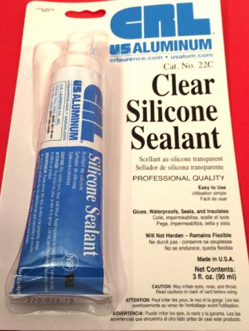 Fits 3 oz CRL Clear Silicone Adhesive, Sealant, Glue