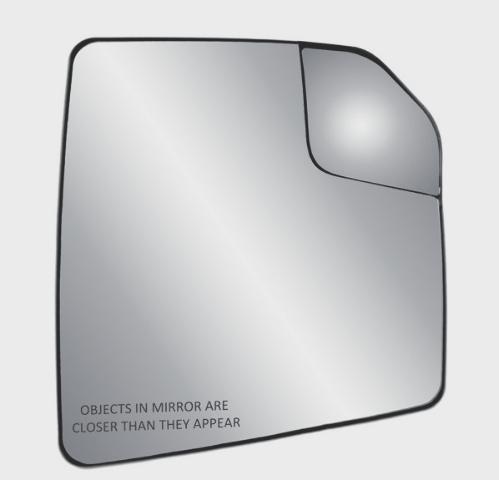 Fits 15-18  F150 Right Pass Mirror Glass w/Heat, Holder w/ Spot Mirror