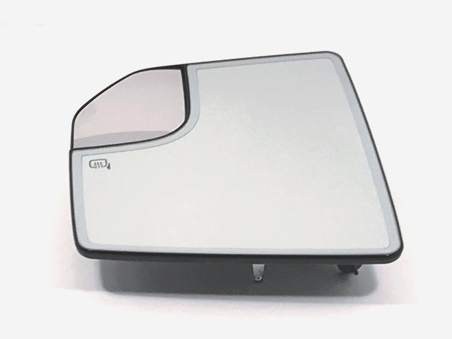 Fits 15-18  F150 Left Driver Heated Mirror Glass & Holder w/ Spot Mirror OE