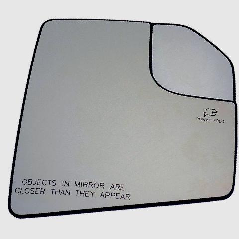 Fits 15-18 Ford F150 Rt Pass Mirror Glass w/Heat Holder Spot Mirror Pwr Fold OE