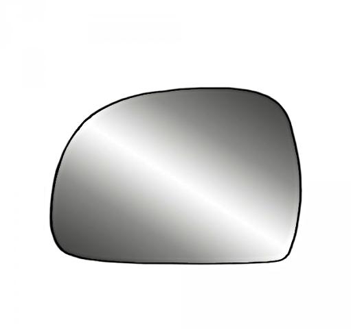 Fits S10, Blazer, S15, Jimmy Sonoma Bravada Hombre Left Heated Mirror Glass w/Holder