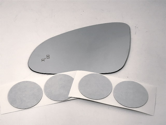 Fits 13-17 Verano Left Driver Mirror Glass Lens w/Blind Spot Icon w/Adhesive USA