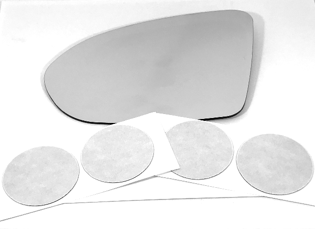 Fits 16-19 Cruze, 18-19 Regal Left Driver Mirror Glass Lens w/Adhesive Pads
