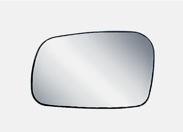 For 06-11 Honda Civic 2 Door Coupe Left Driver Mirror Glass w/ Rear Holder