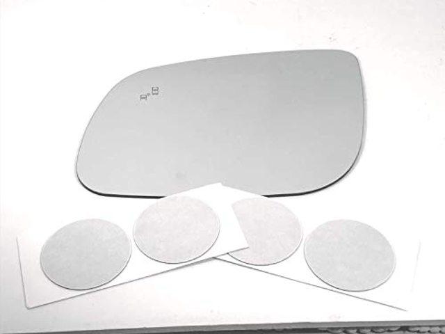 VAM Fits 15-19 Sedona Left Driver Mirror Glass Lens w/BlindSpot Icon w/Adhesive