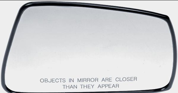 Fits 03-04 HY Tiburon Right Pass Convex Mirror Glass w/ Holder
