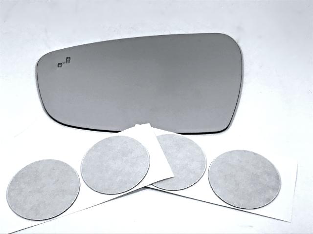 Fits 17-19 Kia Forte Left Driver Mirror Glass Lens w/ BlindSpot Crosspath Icon*