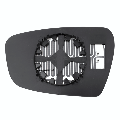 Right Pass Heated Mirror Glass w/Rear Back Plate for 14-18 Kia Forte, Forte5 OE