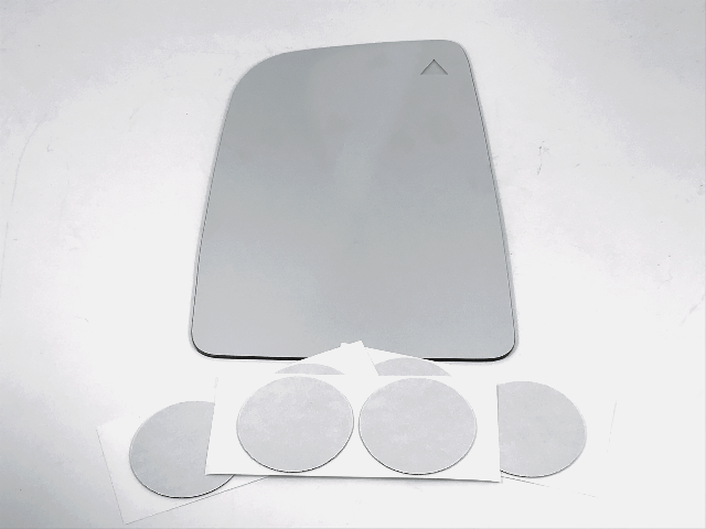 Fits 12-18 Sprinter Left Dr Upper Mirror Glass Lens w/BlindSpot Icon* w/Adhesive