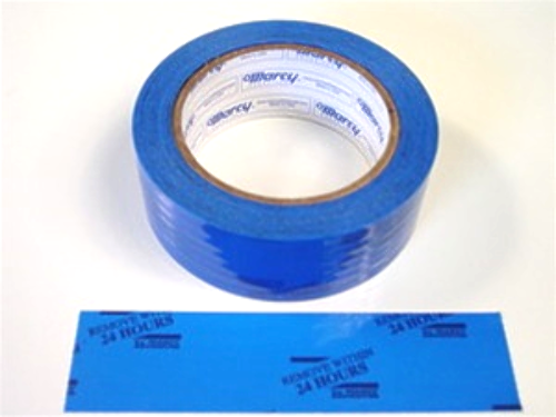 """1 Roll Molding Tape - All Weather, No residue - 1.5"""" x 108' Blue 24-Hour, printed/perfed. (6"""")"""