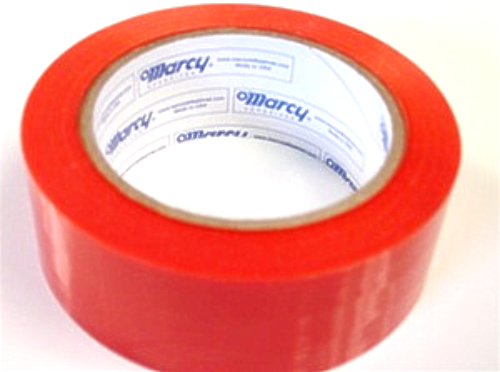 "1 Roll Molding Tape - All Weather, No residue - 2"" x 108' Orange, perforated (6"")"