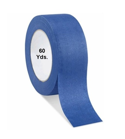 "1 Roll No Residue Blue Masking Tape 2"" x 60 yds (48mm x 180')"