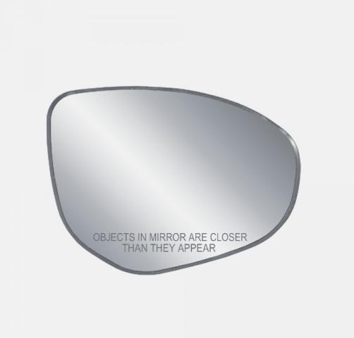 Fits 11-14 Mazda 2, 10-13 Mazda 3 Right Pass Mirror Glass w/ Rear Back Plate