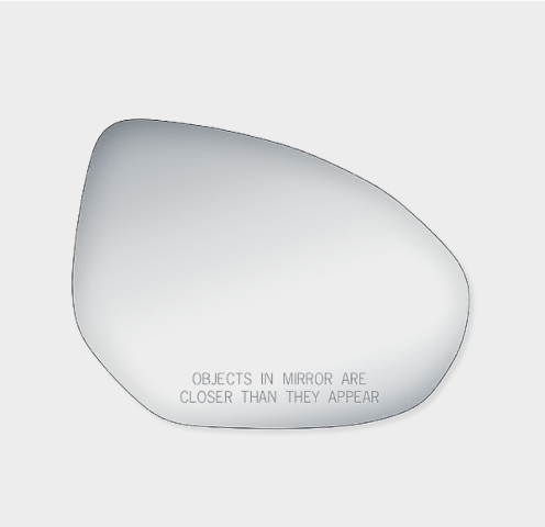 Fits 11-14 Mazda 2, 10-13 Mazda 3 Right Pass Mirror Glass Lens w/Adhesive