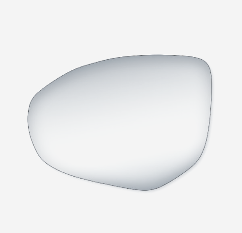 Fits 11-14 Mazda 2, 10-13 Mazda 3 Left Driver Mirror Glass Lens w/Adhesive