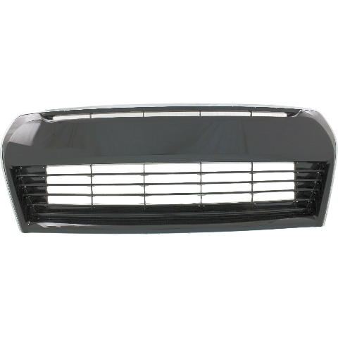 For 14-16 Corolla Bumper Front Grille Black with Chrome Trim Lower Center