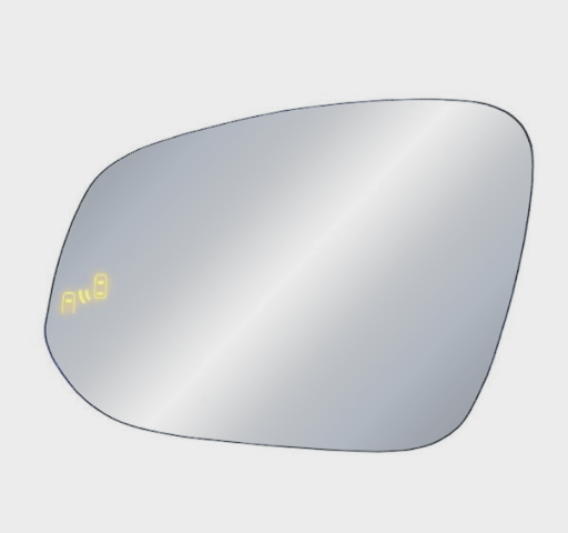 For 14-19 Highlander Left Driver Heated Mirror Glass w/BlindSpot Warning w/Holder