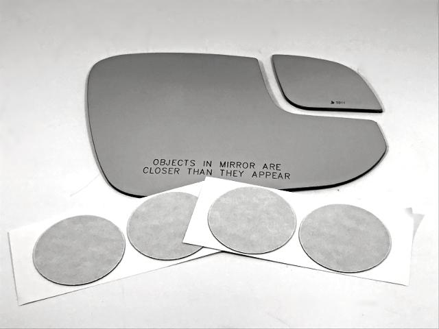 Fits 16-18 Rav4 Right Passenger 2 Piece Mirror Glass Lens Set w/Silicone