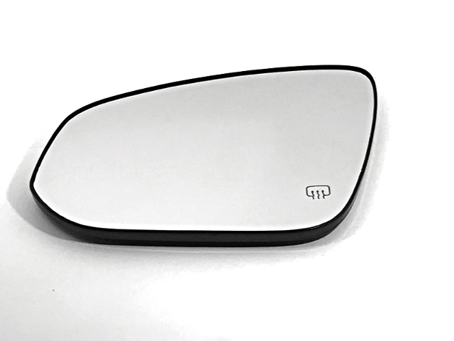 Fits 14-18 Toy Highlander Left Driver Mirror Glass w/Holder Heated