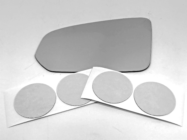 Fits 17-19 Volvo S90 Left Driver Mirror Glass Lens Only W/ Silicone