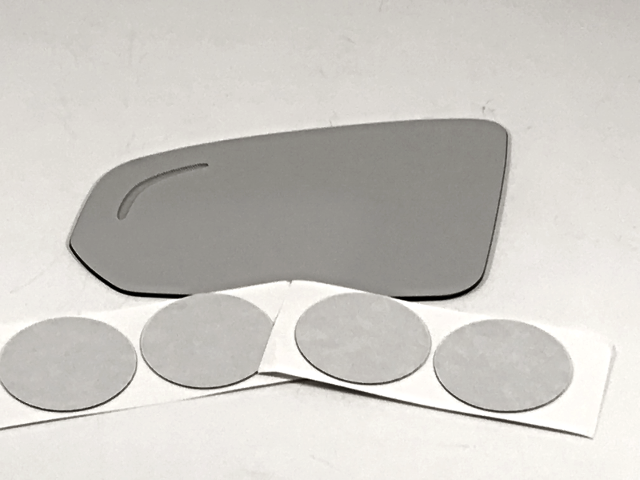 Fits 17-19 Volvo S90 Left Driver Mirror Glass Lens w/Blind Spot Icon w/Silicone