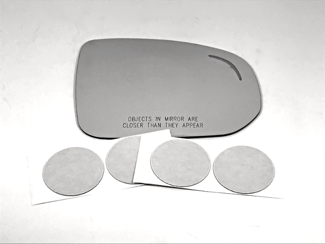 Fits 18-19 Volvo V90, XC60 Right Pass Mirror Glass Lens w/ Blind Spot Icon
