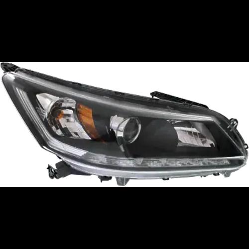 Fits 13-15 Ho Accord Sedan Right Pass Halogen Headlamp Assm w/ LED Running Light