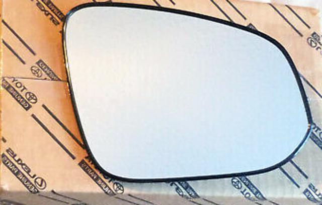 Right Passenger Side Heated Mirror Glass w/ Holder Genuine OE 14-20 4Runner