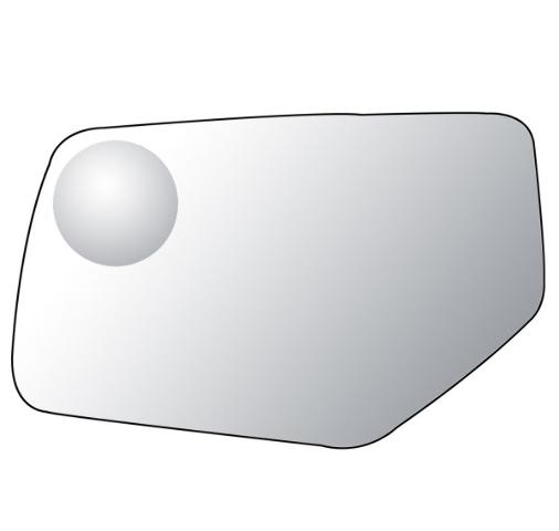 Left Driver Mirror Glass Lens for 15-19 Yukon, Tahoe, Suburban, Escalade
