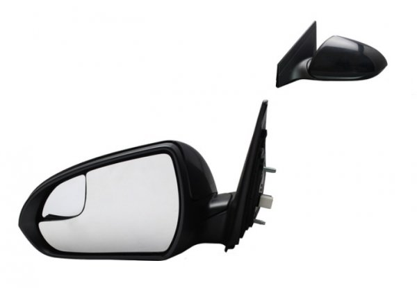 Fits 17-19 Hy Elantra Sedan Left Driver Mirror Assembly Power US Built Only