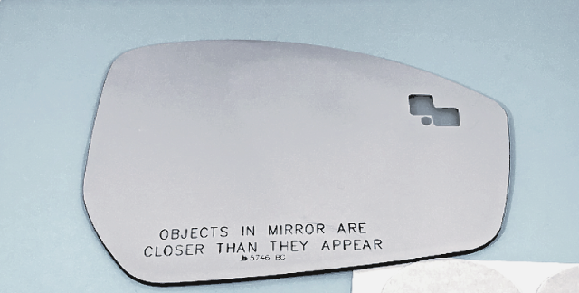 Right Pass Convex Mirror Glass Lens w// Blindspot Detection for 09-13 Mazda 6