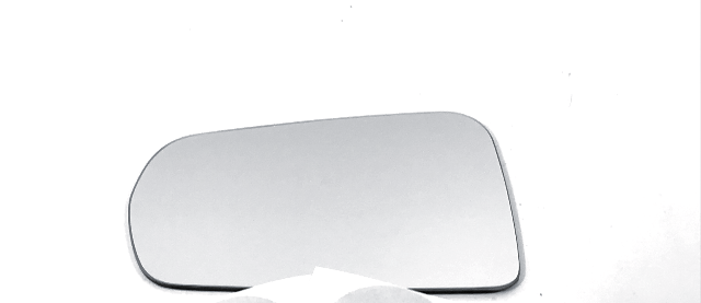 Fits 14-19 Corvette Left Driver Mirror Glass Lens w/ Silicone See Details