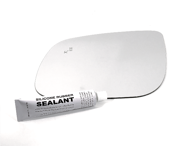 Fits 15-19 Kia Sedona Left Driver Mirror Glass Lens w/BlindSpot Icon* w/Silicone