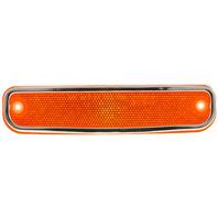 C/K SERIES PU 73-80 FRONT SIDE MARKER LAMP RH=LH, w/ Chrome Trim