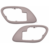 Fits  GM Trucks SUV Interior Door Handle Bezel TAN Left & Right w/ Manual Locks