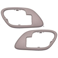 Fits GM Trucks SUV Interior Door Handle Bezel TAN Left & Right w/Manual Locks