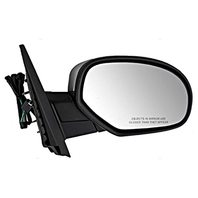 VAM Fits 07-14 Sierra Silverado Right Pass Mirror Assembly Heat Brushed Chome Cover