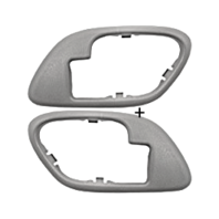 Chevy GMC Trucks SUV Interior Door Handle Bezel Grey Left & Right Manual Locks