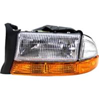 Fits 98-03 Dg Durango Left Driver Composite Headlamp Assem w/park signal lamp