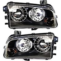 BAP Fits 08-10 Charger Left & Right HID Headlamp Assem with Out HID Kit - Set