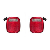 VAM Fits 98-06 Wrangler Tail LAMP Assemblies Left & Right W/Square Connector Plug