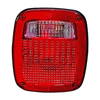 VAM Fits 98-06 Wrangler Right Tail LAMP Assembly W/Square Connector Plug Type