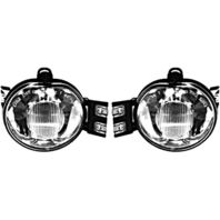 BAP Fits 02-08 Ram 1500/03-09 2500/03-10 3500 Pickup Left & Right Fog Lamp Set