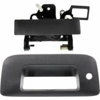Fits 07*-13 Silverado, Sierra Rear Tailgate Handle & Bezel w/keyhole Text Black