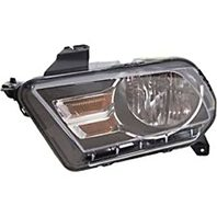 BAP Fits 10-14 Mustang Left & Right Halogen Headlamp Assembly with Chrome Trim